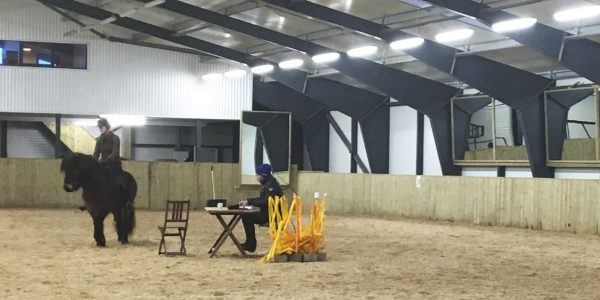 This year's first riding course